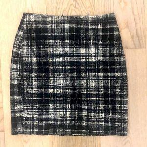 Ann Taylor Pencil Skirt Black/Grey size 2
